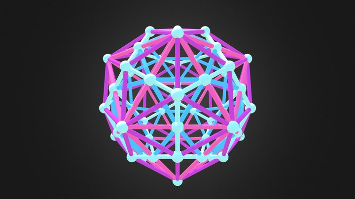 Icosahedral Compound 3D Model