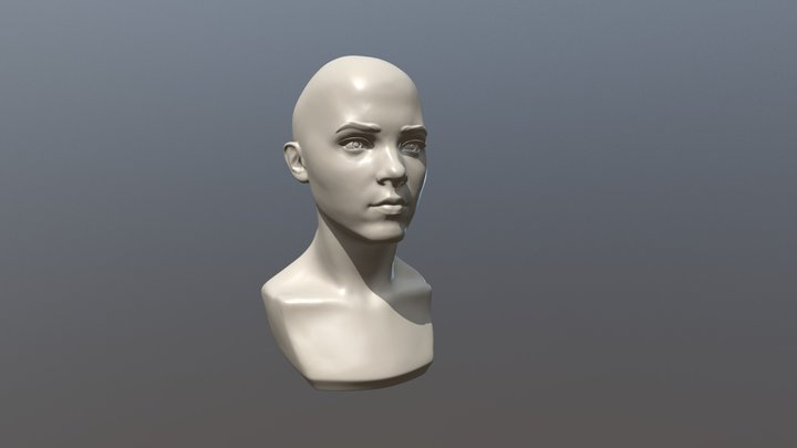 Girl Head II 3D Model