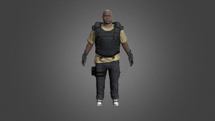 TWD T-Dog (Season 3) 3D Model