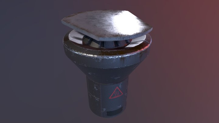 High Tech Space Grill/Skillet 3D Model
