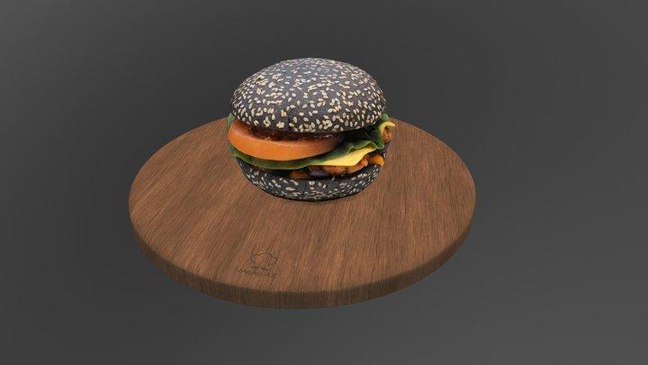 Бургер Блэк 3D Model