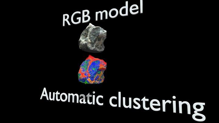 Automatic segmentation of a 3D handsample model 3D Model