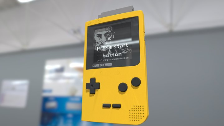 Gameboy pocket yellow 3D Model