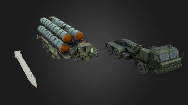 S-400 BAZ-6402 ( SA-21 Growler ) 3D Model