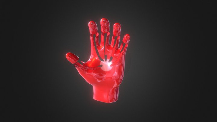 Red and Black Ironman Hand Repulsor 3D Model