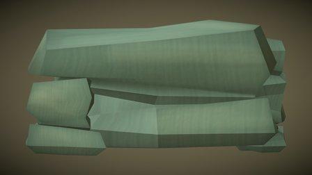 Stones Long Block 3D Model
