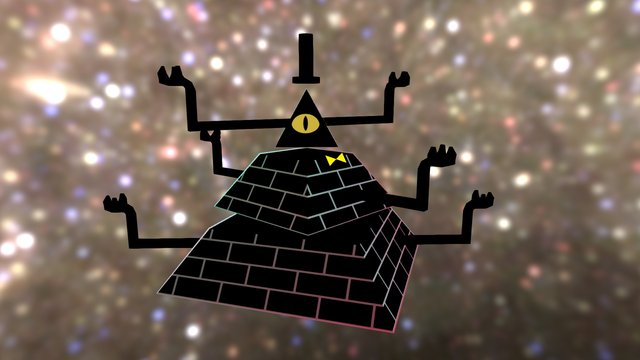 Bill Cipher - Gravity Falls - Weirdmageddon 3D Model