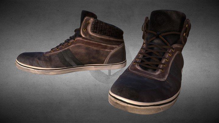 Worn Leather Shoes #ShoesTexturingChallenge 3D Model
