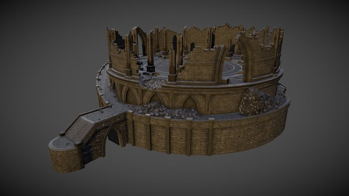 Ruined Tower 3D Model