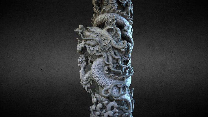 Dragon Column-01 3D Model