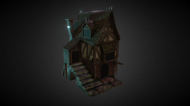 Medieval House - WIP 3D Model