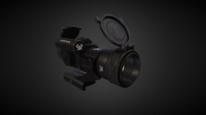 StrikeFire II Red Dot Rifle Optic 3D Model