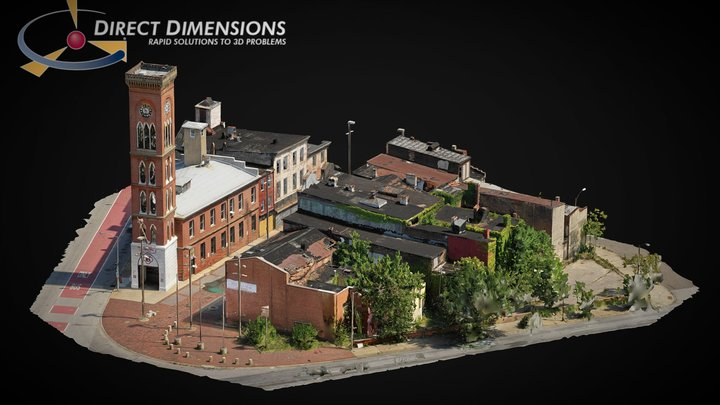 Old Town Mall in Baltimore Maryland 3D Model