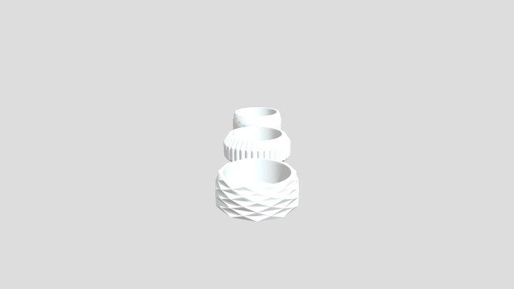 tea_candles_holder_complete_set 3D Model