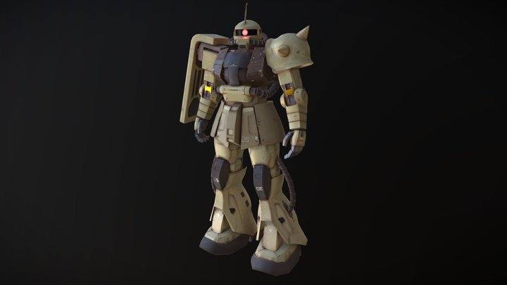 MS-06F Zaku II 3D Model