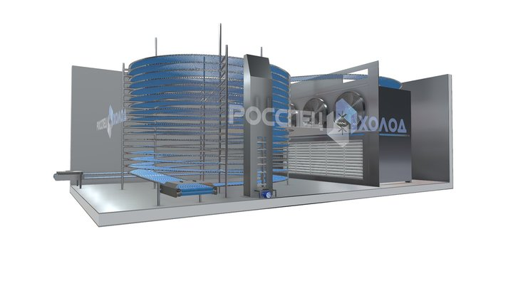 Спиральный конвейер шоковой заморозки 3D Model