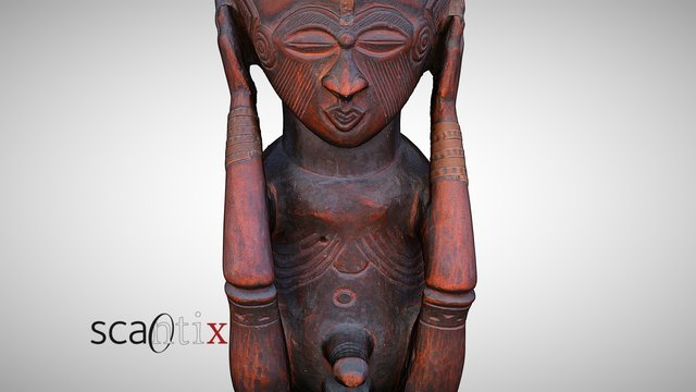 Anthropomorphic Kuba cup, Congo 3D Model