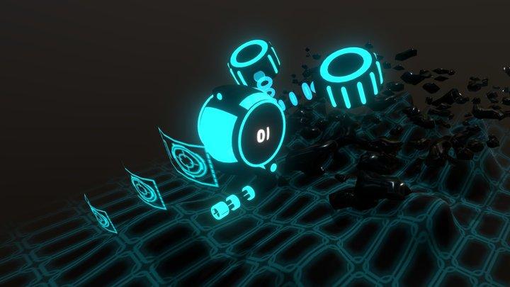 Tron Drone (Johnny Rumeliotis) 3D Model