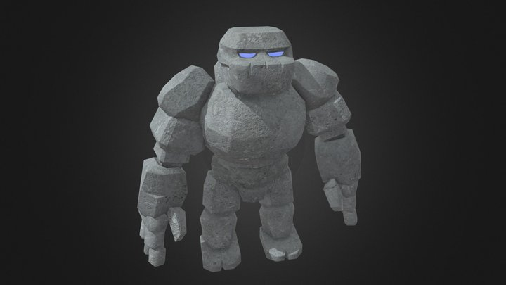 Golem - Glowing Eyes 3D Model