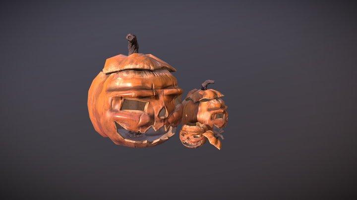 Хэллоуинская тыква 3D Model