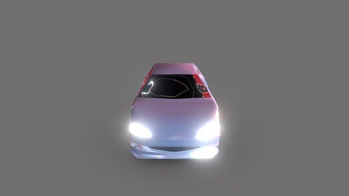 Peugeot 206 low poly 3D Model