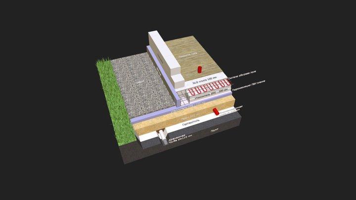 Шведская плита 3D Model