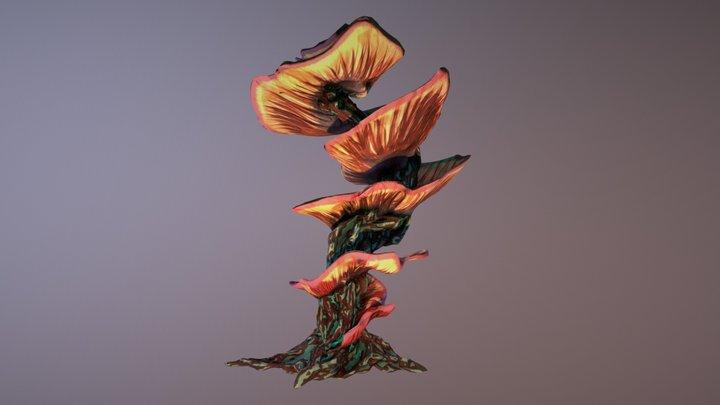 Diseased Fungal Tree 3D Model