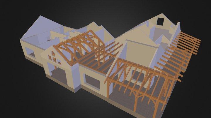 Laurel Creek Cabin Timber Frame View 3D Model
