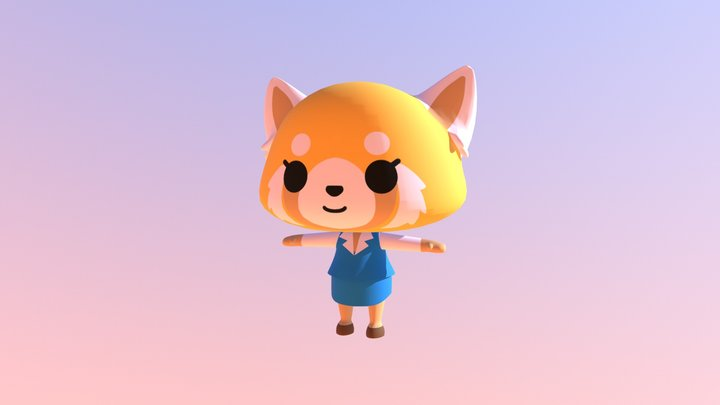 Retsuko from Aggretsuko for VR Chat 3D Model
