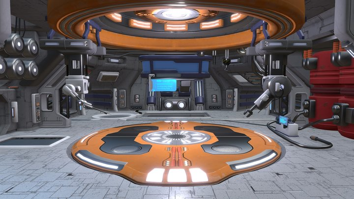 Sci-fi Hangar 3D Model