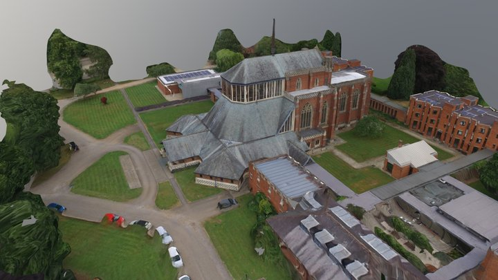 Douai Abbey, Hertfortshire 3D Model