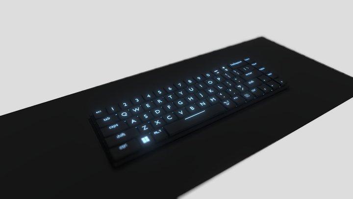 Low Profile Mechanical Keyboard 3D Model