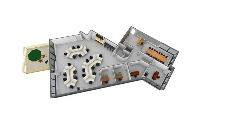 BECO Tower II - Ready-to-go suite 201 3D Model