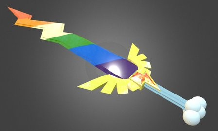 Rainbow Dash's Sword 3D Model