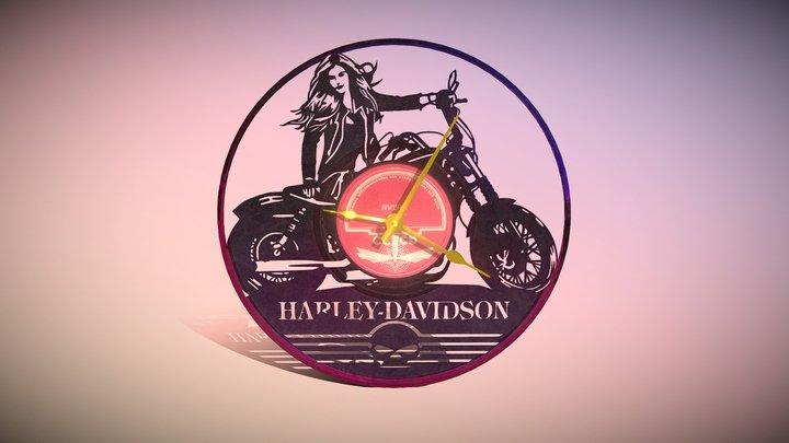 Clock Vinyl Harley Davidson 3D Model