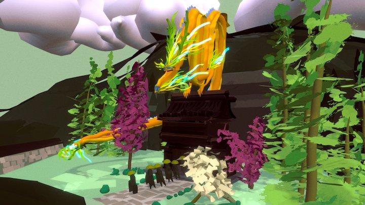 Temple dragon 3D Model