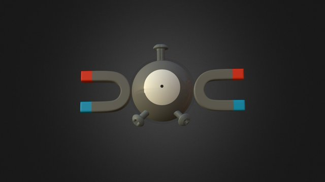 Magnemite 3D Model