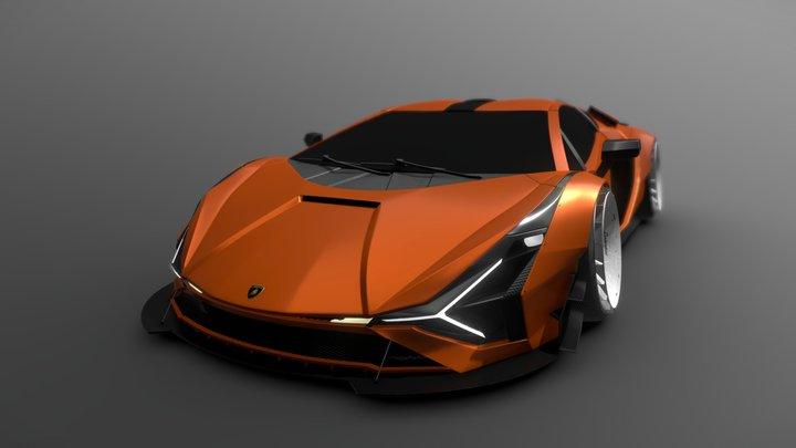 Lamborghini Sian Stance 3D Model