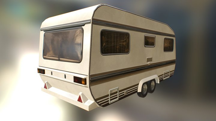 RV Caravan lowpoly model 3D Model