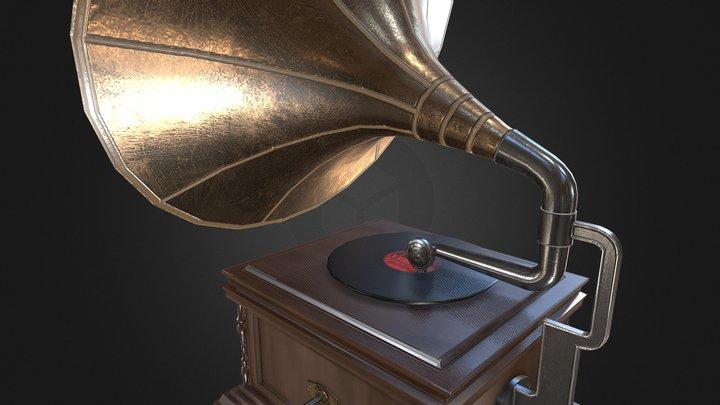 Gramophone 3D Model