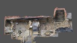 Auckland Castle Western Curtain Wall ? Gatehouse 3D Model