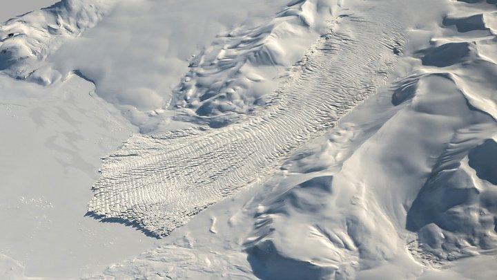 The Surging Arnesenbreen, 2018 3D Model
