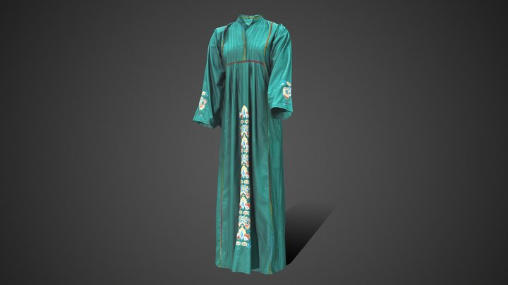 Palestinian Dress 3D Model