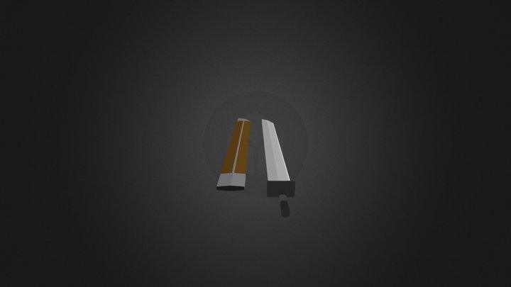 Long Sword & Sheath 3D Model