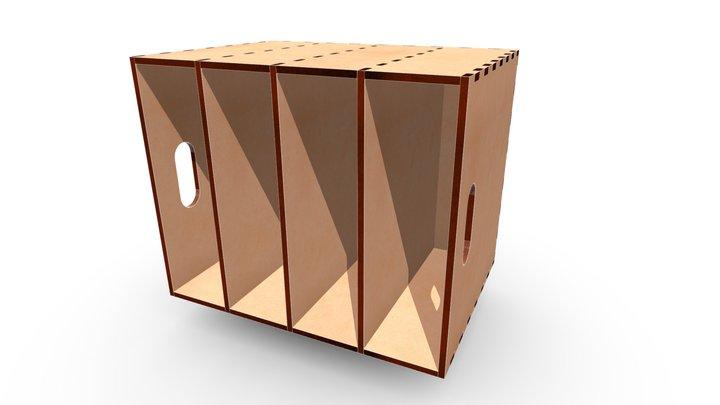 MDF Box 424x308x346a 4LA 3D Model