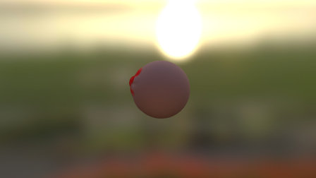 Bright Red 3D Model