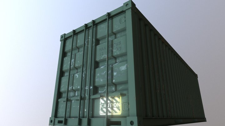 Military Container 3D Model
