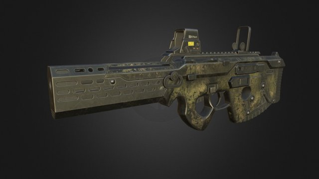 Near Future Rifle 3D Model