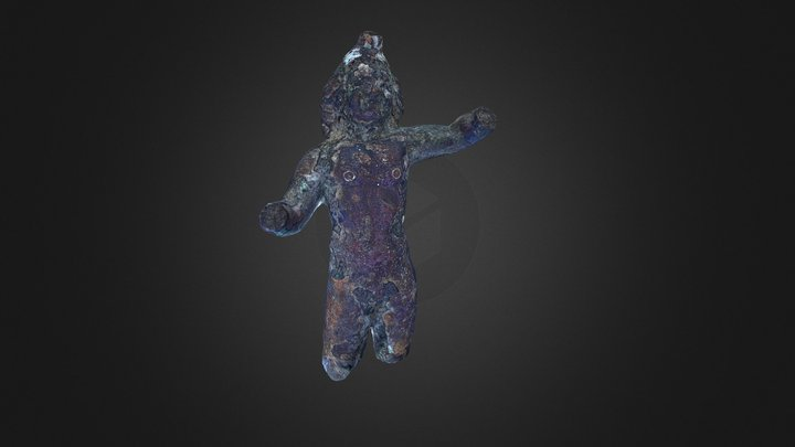 Amoras, figurina de bronz din Banat 3D Model