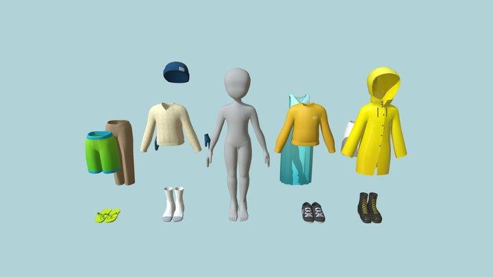 Clothing Assortment 3D Model